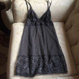 Victoria's Secret Sheer Gray Slip Size Small